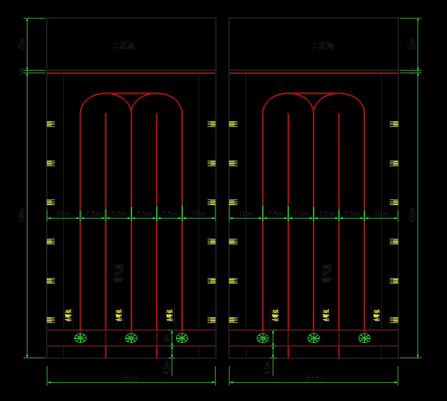 百乐克工艺改氧化沟工艺设计图